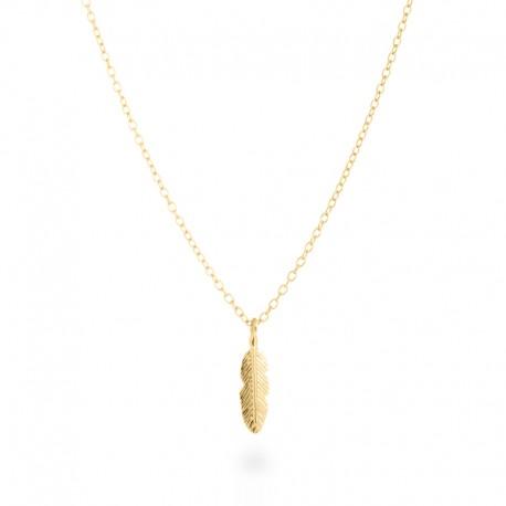 Colgante Feather Amarillo