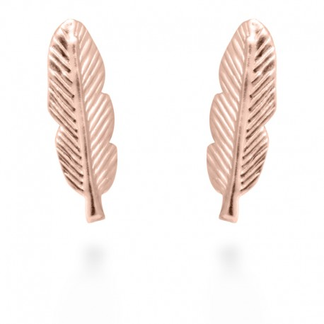 Pendientes Feather Rosa